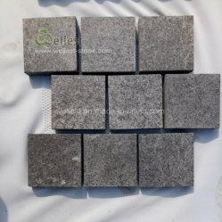 自然な景色の庭または私道のための表面によって一致させる黒い玄武岩の敷石