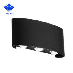 Il bianco nero moderno mette in luce 2W 4W 6W 8W il LED RGB in su giù gli indicatori luminosi della parete