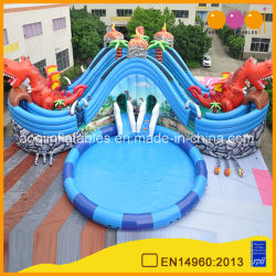 Conception Aoqi Jurassic Parc d'eau gonflable avec trois piscine