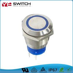 مصباح LED إلكتروني مقاوم للمياه مفتاح زر الضغط مع UL الشهادات