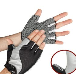 La mitad de las carreras de bicicleta montaña carretera Guantes Fingerless de dedos cortos ciclismo guantes