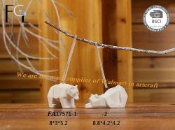 陶磁器の磁器のサンタの動物の白くまHangings
