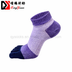 Usine de la cheville colorés cinq Toe YOGA PILATES Sport Chaussettes de compression