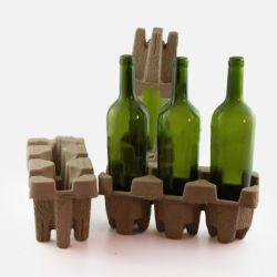 Pflanzenfaser-Zellstoff geformte Flaschenschale für Rotwein, Wein und andere Glasflaschen