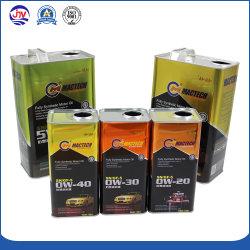 Óleo lubrificante pode recipiente metálico com tampa de abertura fácil