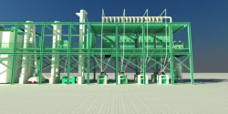 Farine de blé maïs la farine de maïs Grits Making Machine Factory Mill Milling ligne
