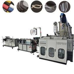 PP/PE/PC/EVA/PA einzelne Plastikwand-gewölbtes Rohr-Rohr, das Maschine/Shisha Huka-Schlauch herstellt maschinell zu bearbeiten/medizinische Schlauch-Extruder-Maschine