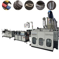 PP/PE/PC/EVA/PA plastique tuyau ondulé conduit à paroi simple Making Machine/Shisha narguilé Flexible flexible machine/machine de l'extrudeuse médical