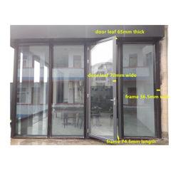 Конструкция из алюминия с двойным остеклением дверной рамы изолированный стекла