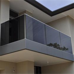 Aluminium-/Stahlu-profilstäbe Frameless Glasgeländer für Balkon/niedrigster Preis-Aluminiumu-profilstäbeglasgeländer/ausgeglichenes Glas-Balustrade