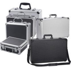 カスタマイズされたサイズアルミニウムはケースのツールのスーツケース泡が付いている小さく堅いアルミニウム装置の工具箱を運ぶ