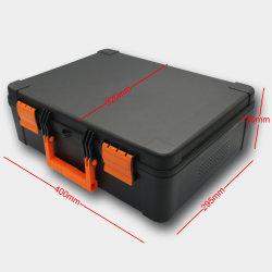Caixa de ferramentas plástica com Superfície fosca e espuma personalizada