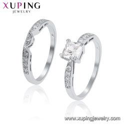 Vastgestelde Ring van de Juwelen van Zircon van de Vrouwen van het Roestvrij staal van Edding van de manier de Moderne Zilveren