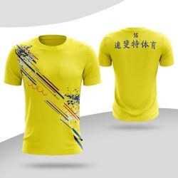 Sommer Sports Männer plus Größen-T-Shirt Schnell-Trockner Eignung-Kurzschluss-Hülse für Mann-Breathable runde Stutzen-T-Shirts