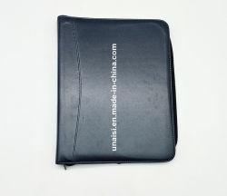 매니저를 위한 루스리프식 노트를 가진 가죽 파일 문서 폴더