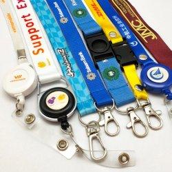 custom Fashion ID Badge Card Holder Heat Transfer Printing Neck Strap Short DHL Company 승화 선전용 선물을%s 나일론에 의하여 길쌈되는 인쇄된 폴리에스테 방아끈