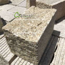 20X10 Amarelo Enferrujado Pavimentadora de pedra do bloco de granito para caminho de acesso