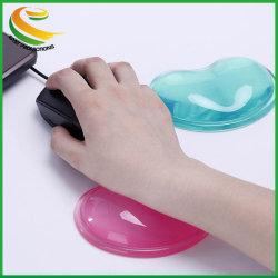 En forma de corazón transparente Reposamuñecas de gel de sílice Cool Mouse Pad