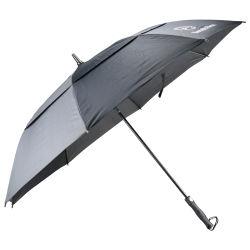 Canpoy dupla estrutura de fibra de vidro com nervuras e marca do eixo guarda-chuva de golfe