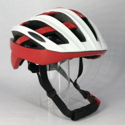 Casco de bicicleta ciclismo moto deportiva de la seguridad vial casco rojo/amarillo para adultos
