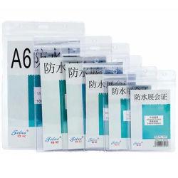 En PVC résistant à l'eau pochette plastique carte ID Porte-Badge pochette portefeuille