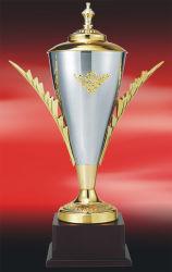 Match de football de haute qualité personnalisés trophée en métal pour la collecte de la commémoration