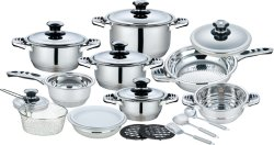 Glass Lid를 가진 New Style 21 피스 Kitchenware Stainless Steel Cookware