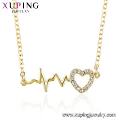 La moda al por mayor de cobre de alta calidad ambiental de la cadena de neutro de oro cadenas planas llenas de joyas collar de la mujer