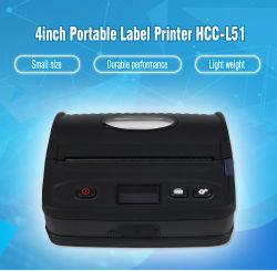 120mm Papierformat beweglicher Bluetooth mobiler thermischer Barcode-Drucker mit LCD-Bildschirmanzeige (HCC-L51)