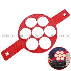 Pfannkuchen-Form-Ring gebratener Ei-Form-mehrfachverwendbarer Silikon-Nahrungsmittelgrad-nicht Stock-Pfannkuchen-Hersteller-Ei-Ring