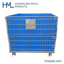 Американской промышленной обработки материала транспортировки преформ ПЭТ стек стальной проволоки сетка Gitterbox контейнер с крышкой