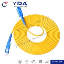 FTTH Single mode Simplex 9/125 SC/SC/UPC UPC PVC LSZH Cordon de raccordement à fibre optique