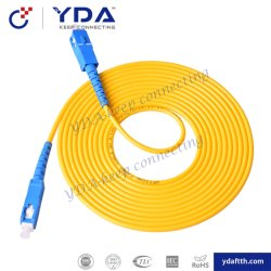 FTTHの単一モード9/125シンプレックスSc/Upc Sc/Upc PVC LSZH光ファイバパッチ・コード