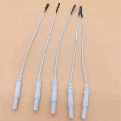 Commerce de gros blanc en vrac 6K sur le fil en fibre de carbone de 6,0 pouces de queue de cochon de fil de plomb pour des dizaines d'électrodes avec 0,87 pouces dénudée du fil de carbone