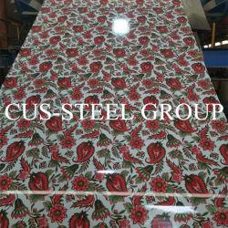 Современная мода цветы гальванизированные металлическую пластину в рулон на шкаф/шкаф