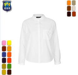 대중적인 사무실 백색 길고 짧은 소매 일 셔츠