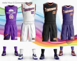 Kundenspezifische Qualitäts-Mann-Frauen-Jugend-Breathable Sonne-Basketball-Kleidung