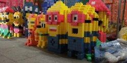 Estilo de moda DIY ensamblar bloques de construcción para la promoción de la personaje de dibujos animados