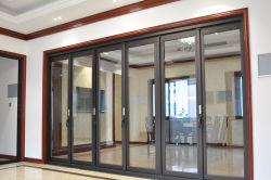 Складные окна Управление разделительная дверь, плоских двери, от двери до двери, двойной закаленного стекла, звукоизоляция, Теплоизоляция Custom алюминиевого сплава Складные двери