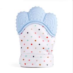 Мягкая силиконовая пищевой категории детского рукавицы при прорезывании зубов