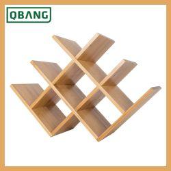Comptoir en bois de bambou en forme de papillon Rack Vin