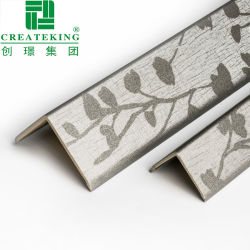 Твердые деревянные ПВХ декоративные материалы защищают Настенный дисплей угловой стойки