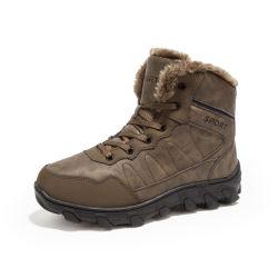 Изделия из кожи высокого качества теплый мех Custom снег мужские зимние ботинки
