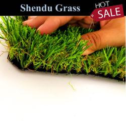 20mmの人工的な草の芝生の総合的な泥炭のマット25m Lengthforの庭の背景および屋外