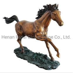 Scultura Bronze su ordinazione del cavallo per l'ornamento della Tabella (GSBR-291)
