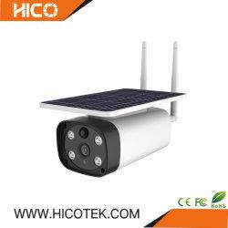 1080P em Cores WiFi Starlight 4G IP bateria solar à prova de bala exterior IR segurança CCTV Mini câmara de vídeo com cartão SD
