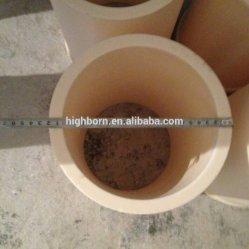 Grande diametro 95 tubo di ceramica dell'ossido di alluminio 99 Al2O3