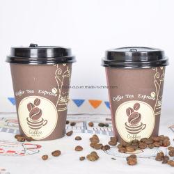 12 Unze-kundenspezifischer Wegwerfkaffee-Papiercup für heißer Getränkeheißer Kaffee-heißes Getränk mit Kappe