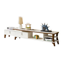 Sala de estar luxuosa Móveis baratos suporte de TV de madeira escura