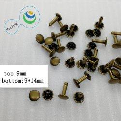 9mm Decoractive broche de metal de la bolsa de latón remaches